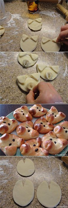 maybe fill them with pizza sauce and some ham and cheese, making very cute calzoni