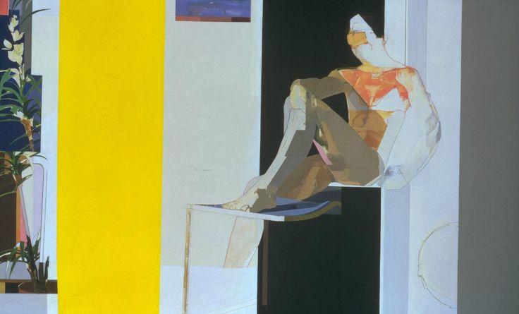 Myles Murphy 'Figure with Yellow Foreground', 1974 © Myles Murphy
