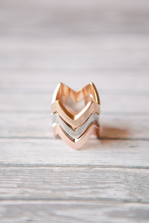 Neutral Chevron Rings @Laura Jayson Jayson Carpenter rose silver and gold