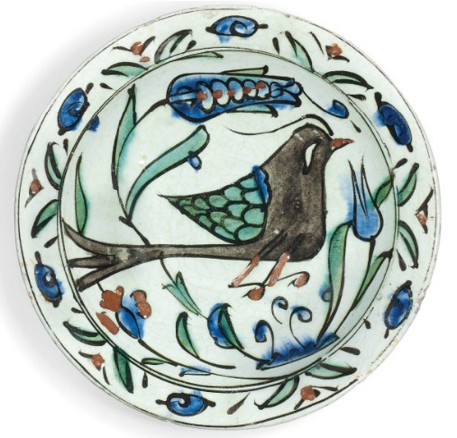 IZNIK POTTERY DISH   OTTOMAN TURKEY, MID-17TH CENTURY