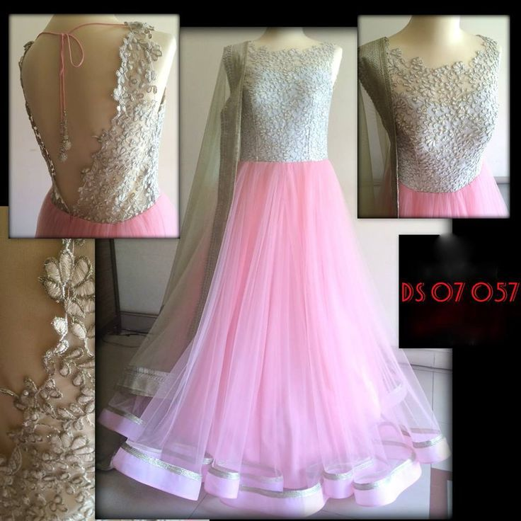 Beautiful pastel pink and silver anarkali..... Engagement Dress