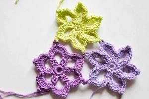 Häkeln: Einfache Sternblüten