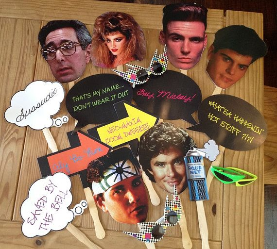 80s party photo props on Etsy, $20.00