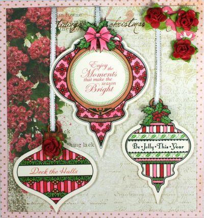 JustRite Christmas Card designed by Kellie Fortin w/Spellbinders dies