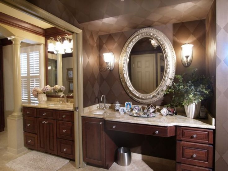1base cabinets were used to create this sit down vanity - Using kitchen cabinets for bathroom vanity ...