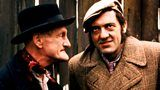 Some unwelcome visitors arrive. Adapted from TV with Wilfrid Brambell and Leonard Rossiter. Series 5, episode 1/5.