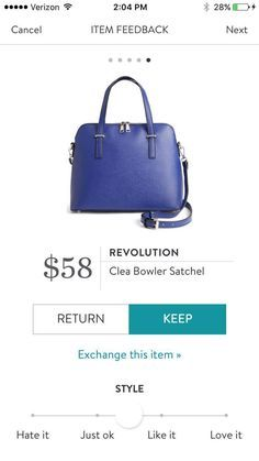 Stitch Fix Revolution Clea Bowler Satchel. I would love this in a dark gray, mahogany brown, or black.