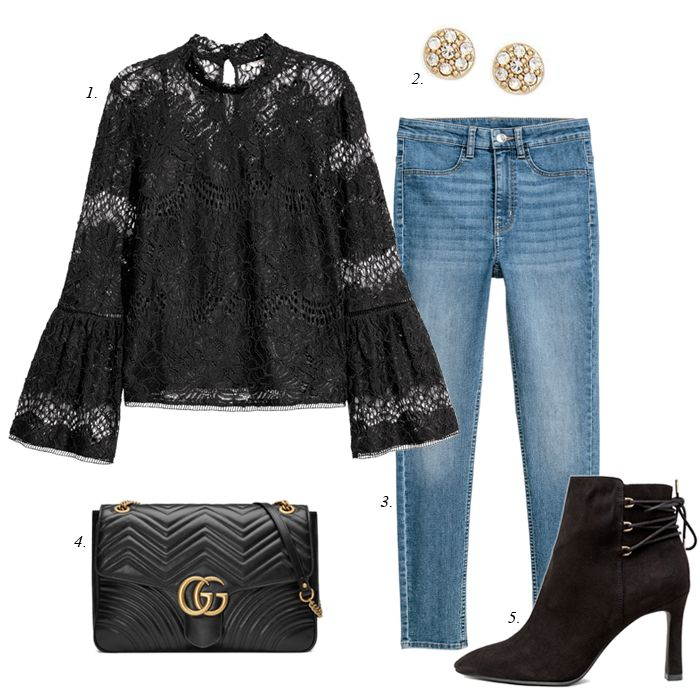 create 7 outfits from your own closet, wardrobe collection, date night outfit, women fashion, outfit, capsule collection