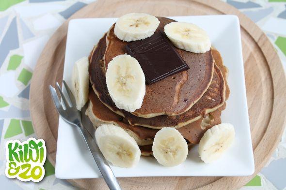 Chocolate boekweit ei banaan pannenkoekjes