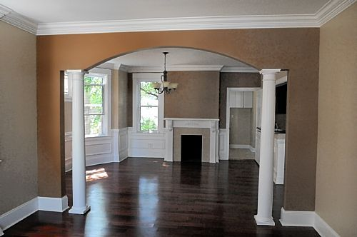 Kitchen Half Wall Into Living Room