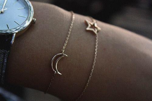 moon + star bracelets