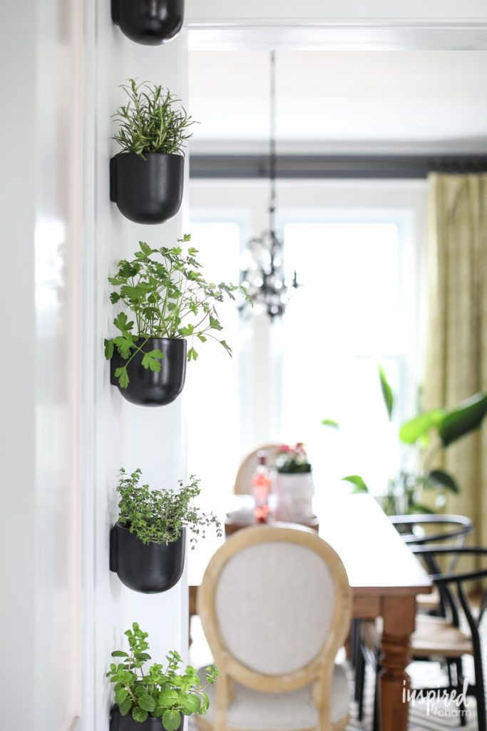 How To Create A Modern Wall Herb Planter Planting A Vertical