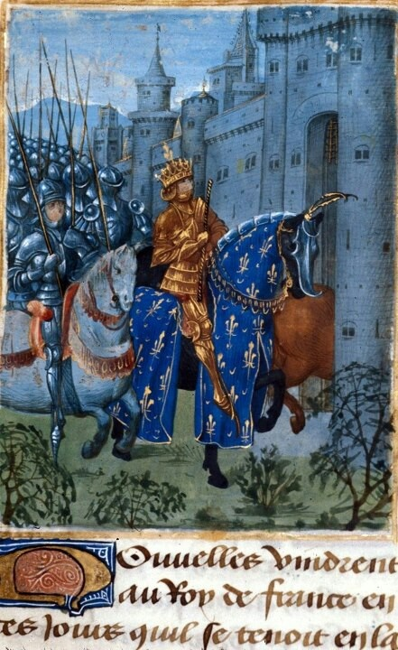 Charles VI of France. Jean Froissart, Chroniques. Netherlands, S.; Last quarter of the 15th century.