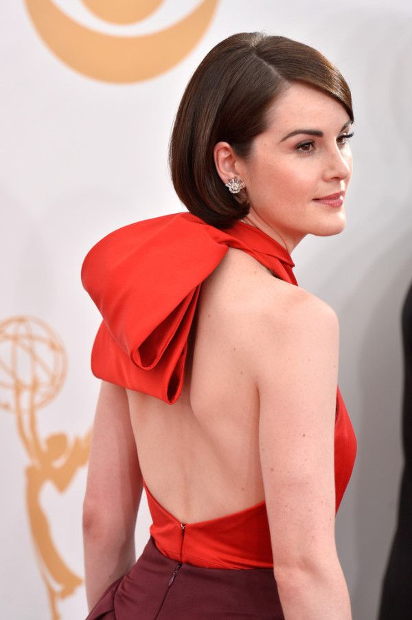 Michelle Dockery Wearing Prada – 2013 Primetime Emmy Awards