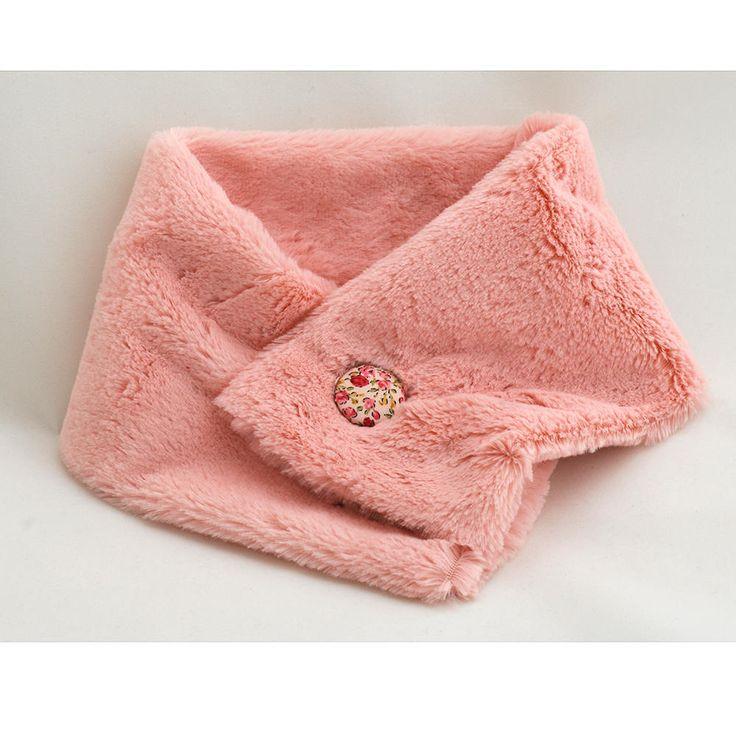 Neck warmer, button cowl for kids, coral fleece cowl, button cowl scarf, kids cowl scarf, kids scarf, kids snood, coral fleece neckwarmer