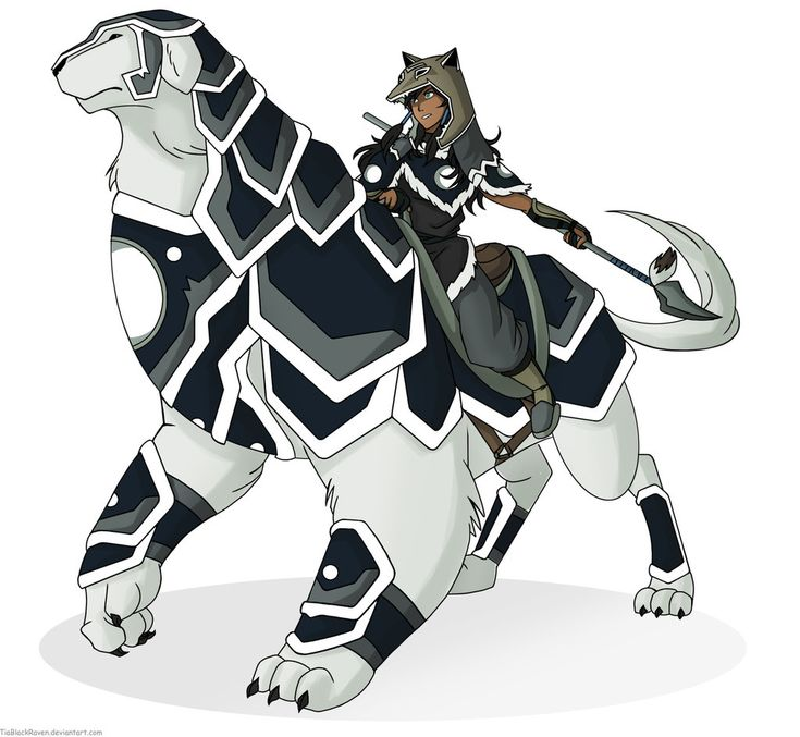 If Korra had put armor on Naga like Sokka did for Appa