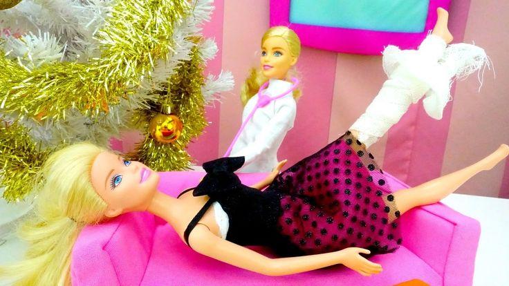 Детские игрушки и игры Барби куколки для девочек.  Барби упала с крыши