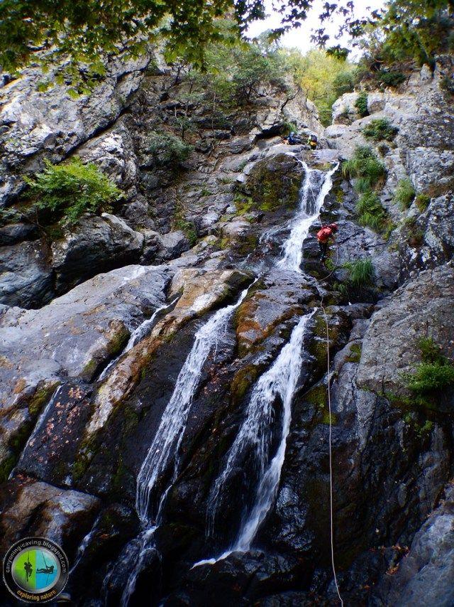Descenting waterfalls, Samothrace island, Greece