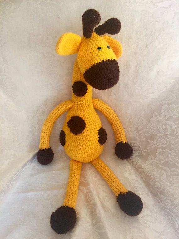 This adorable giraffe is a great gift for anyone who needs a cuddle! The pattern for this giraffe was translated from