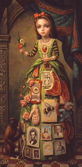 LOVE The Debutante - Mark Ryden | Makes me think of the Queen Elizabeth I…