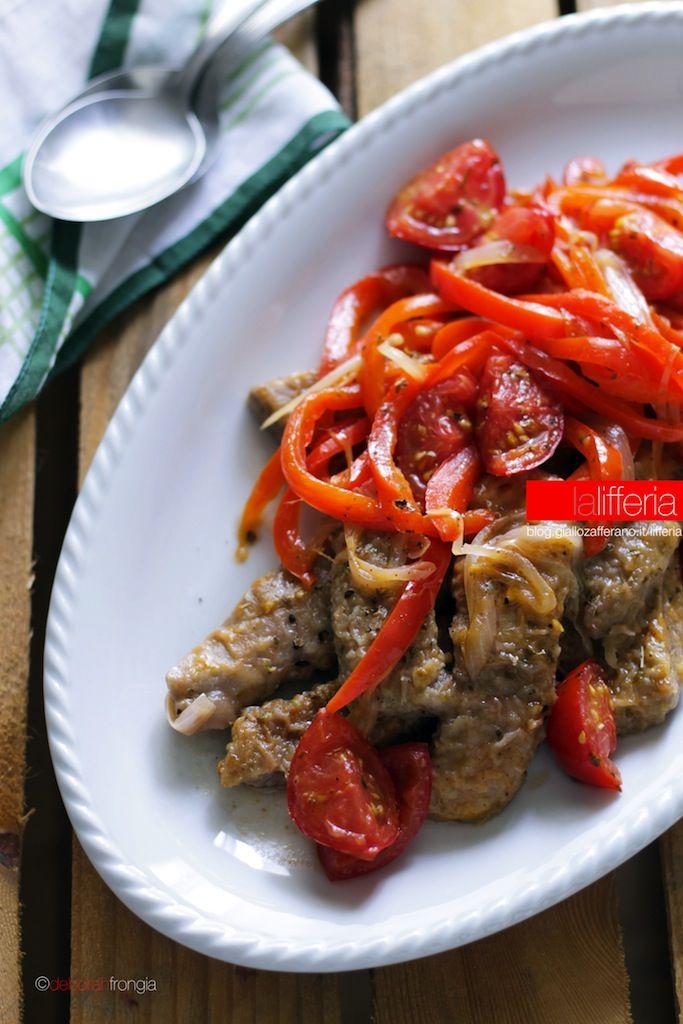 Straccetti di manzo con peperoni e pomodori Ingredienti