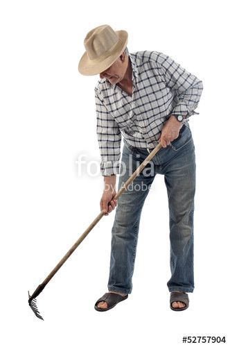 """Download the royalty-free photo """"a farmer works with a garden tool"""" created by Stelios Filippou at the lowest price on Fotolia.com. Browse our cheap image bank online to find the perfect stock photo for your marketing projects!"""