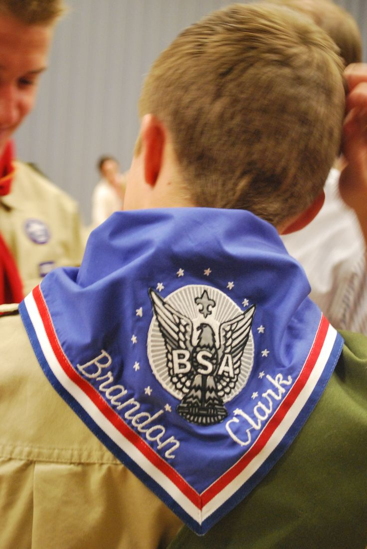 Embroidered Name on Eagle Scout Neckerchief  Gift for Eagle Scout Court of Honor