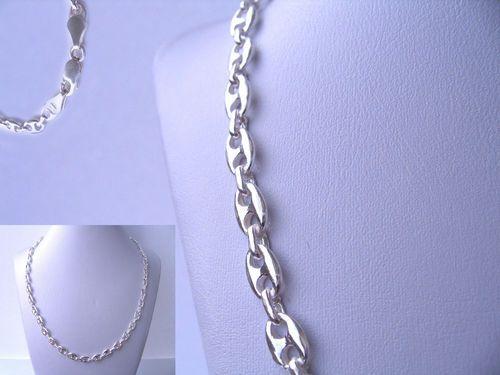 Collar Calabrote 50 cm de largo fabricado integramente de Plata de Ley 925 ml  Material: Plata de Ley 925 ml  Peso: 19,6 gr  Medida:  50 cm de largo.