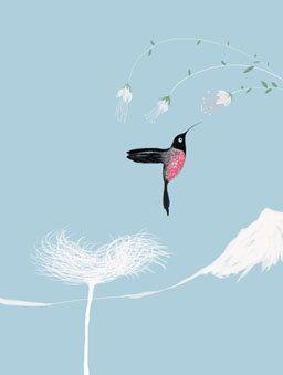 Hummingbirds in the sky di marilenapasini su Etsy