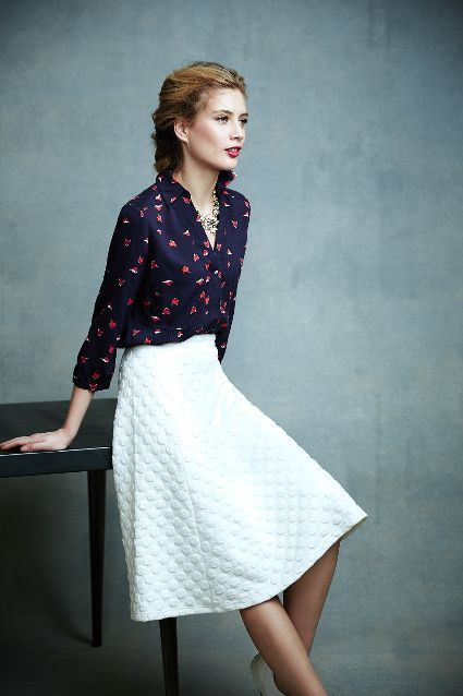 Dotted Jacquard Skirt - #anthrofave