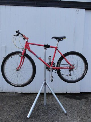 I've seen a lot of homemade bike stand and bike repair stands on Instructables as well as other places on the internet over the years and have tried my hand at a...