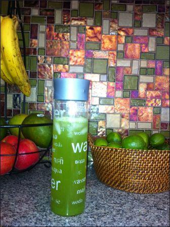 MOJITO KOMBUCHA    *1/2 gallon unflavored kombucha,    *4 limes (juiced)    *1/2 cup fresh mint (washed w/stems removed).---------To blender; add 1/2 cup kombucha, limes and mint and blend well. Add rest of kombucha and enjoy!
