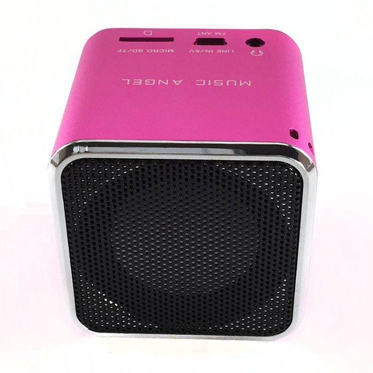 Mini Bluetooth speaker ORIGINAL music angel MD-06BT DIGITAL SPEAKER W/ BUILT IN FM RADIO& SD/TF CARD PINK //Price: $22.95 & FREE Shipping //     #hashtag4