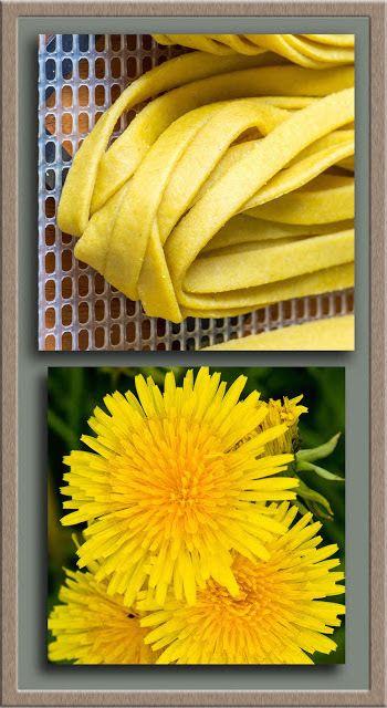 Dandelion Recipe - Dandelion Flower Pasta