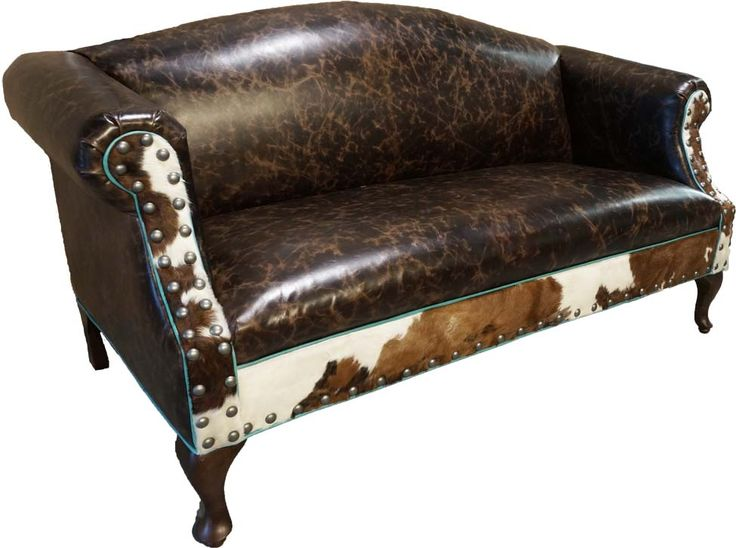 havertys distressed leather nailhead large sofa   113 best Western Sofa & Loveseats images on Pinterest ...