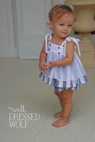 LUCY TUNIC SET / SILK & CHAMBRAY - Well Dressed Wolf size 5Y