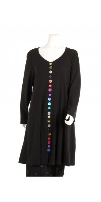 Ralston Multicolor Button Quirky Tunic
