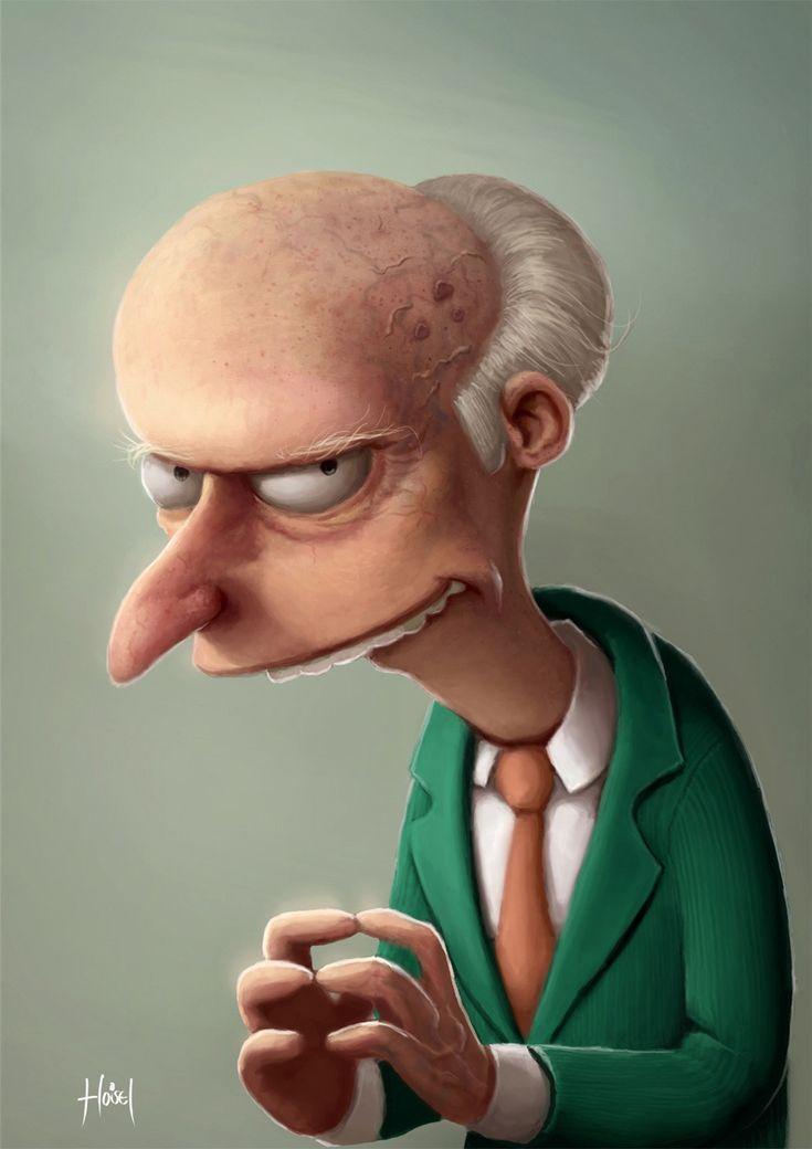 Mr. Burns. Portrait by Tiago Hoisel, Brazil. Tools: Photoshop