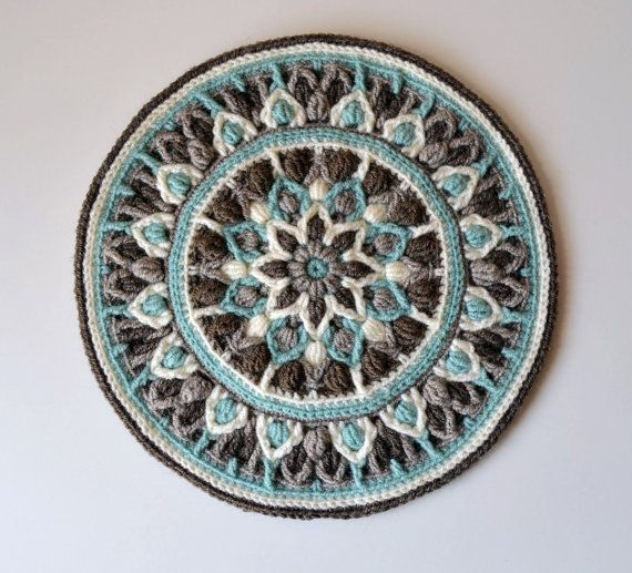Crochet Mandala Potholder Pattern Mint Coffee Mandala ***** This listing is for the crochet pattern only! Finished mandala is not included!