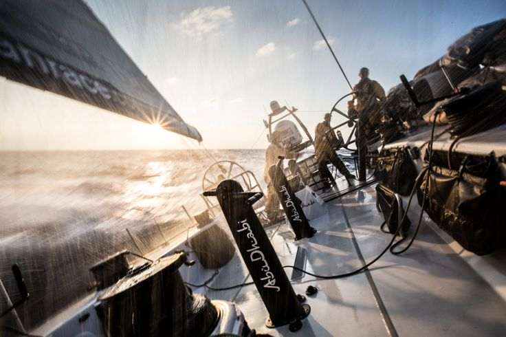 February 13, 2015. Leg 4 onboard Abu Dhabi Ocean Racing.