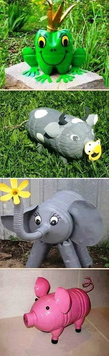 Reuse plastic bottles and make cute decorations