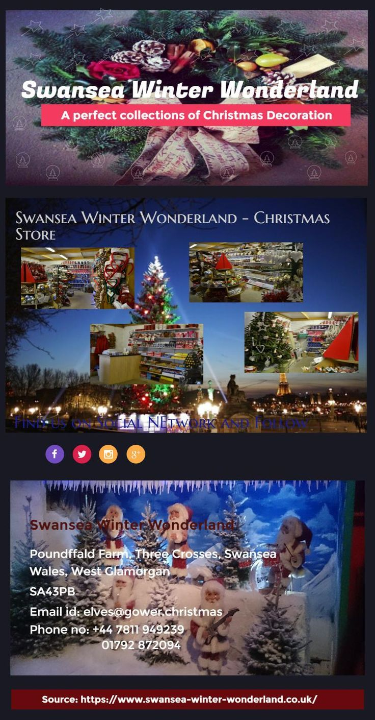 Christmas Store in Swansea Winter Wonderland