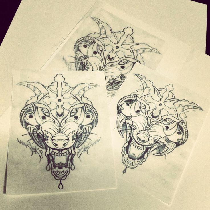 Custom wolf desighn by skinsinner