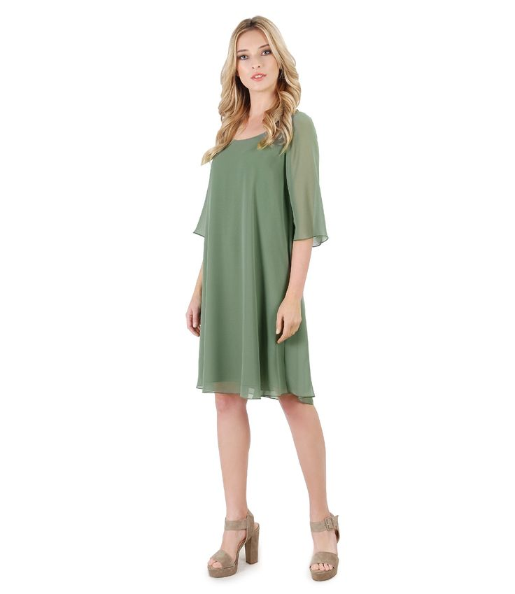 KHAKI, big trend! SUMMER17   YOKKO #khaki #veil #dress #weddings #cocktails #party #fashion #beauty #style #summer17 #yokko