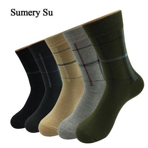 5 Pairs/Lot Dress Socks Men Cotton Colorful Casual Long Sock Male Wedding | Mens  dress socks, Long socks, Mens socks