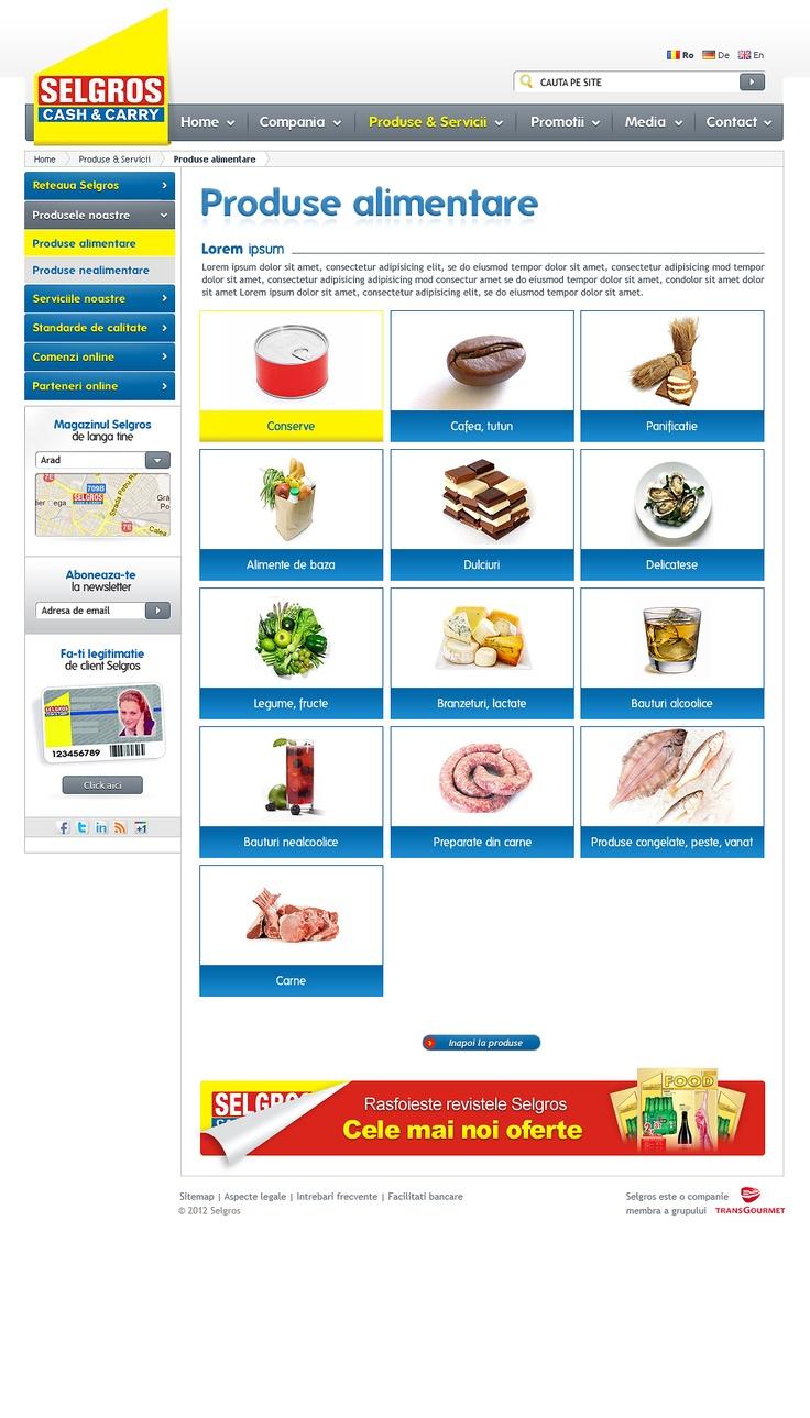 web design selgros.ro -pagina prezentare produse