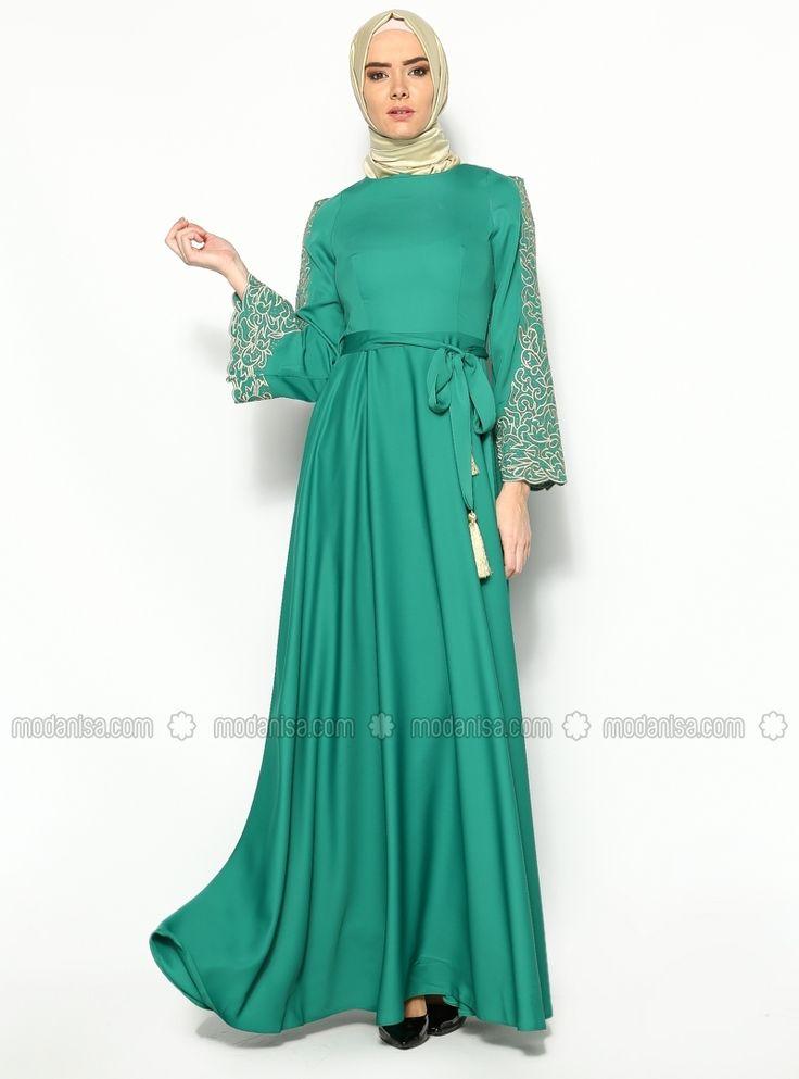 Evening Dress - Green - Modaysa