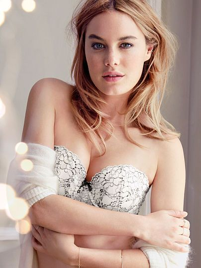Worn by : Angel Camille Rowe  Type : Multi Way Bra  Color : Ivory and Black Cross Dye Lace