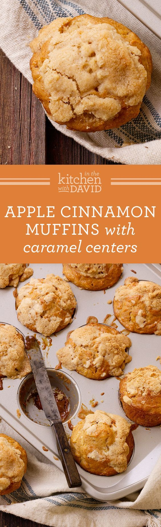 The Most Addicting Apple Cinnamon Muffins With Caramel Centers