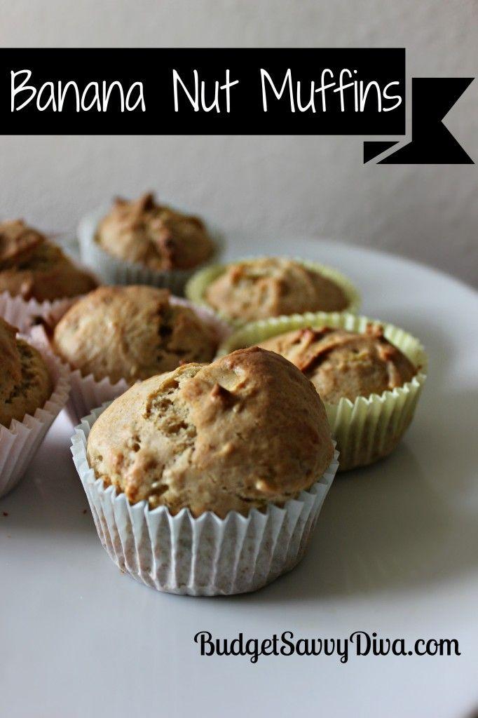 Homemade Banana Nut Muffins :) So good~